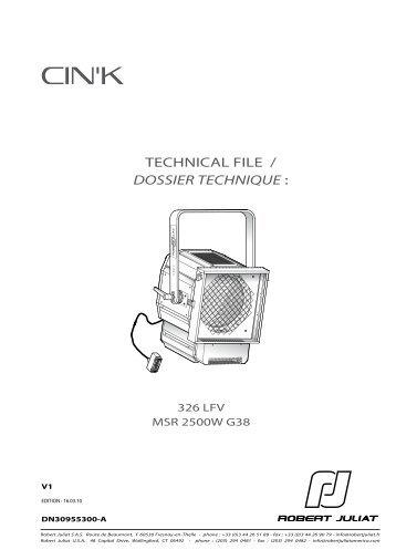 Robert Juliat Cink 326LFV Manual