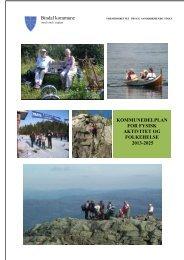 Vedtatt plan for fysisk aktivitet og folkehelse Bindal kommune 2013