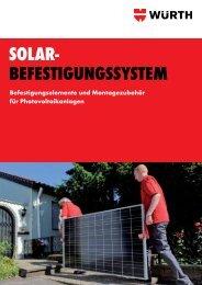 Solar- BefeStigungSSyStem - Würth
