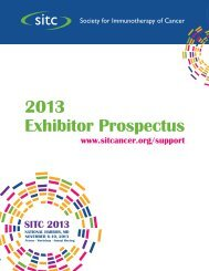 2013 Exhibitor Prospectus - Society for Immunotherapy of Cancer