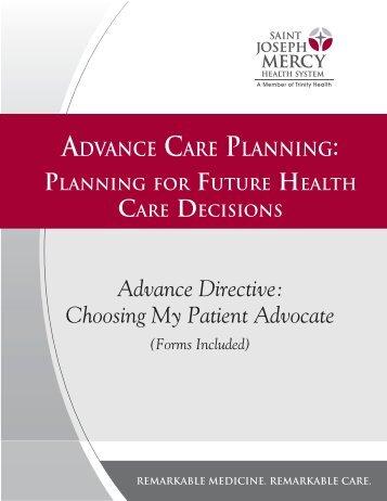 Designation of Patient Advocate Form - Spectrum Health