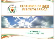 expansion of ines in south africa - Event and Strategy Management