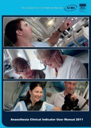 clinical indicators - Australian and New Zealand College of ...