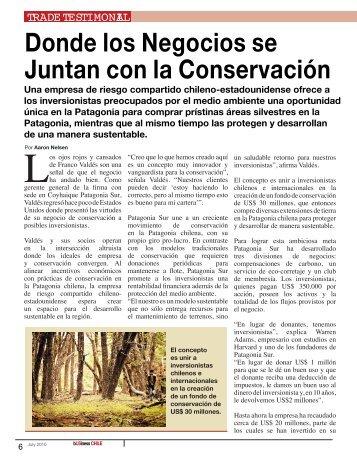 Donde los Negocios se Juntan con la Conservación - Patagonia Sur