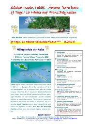 Tahiti - Traumreise Moana - World Travel Net