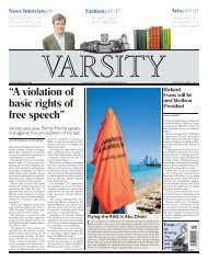 """A violation of basic rights of free speech"" - Varsity"
