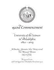 Commencement - University of the Sciences in Philadelphia