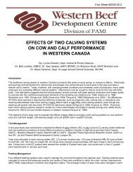 effects of two calving systems on cow and calf performance in ...