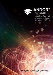 Interim Report - Andor Technology