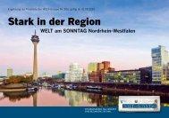 Folder WELT am SONNTAG NRW 2012 - Axel Springer MediaPilot