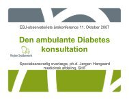 Den ambulante Diabetes konsultation - EPJ-Observatoriet