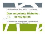 Den ambulante Diabetes konsultation - EPJ-Observatoriet