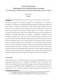 Work-in Progress Paper Relationships, Services and the ... - HU Berlin