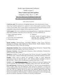 Studia Logica International Conference Trends in Logic V Many ...