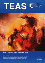 THE LAND OF FIRE ENTERS 2013 01 / 2013 - TEAS
