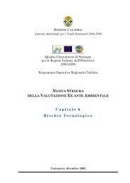 Rischio tecnologico Calabria - Dps