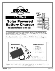 Solar Panel (10 Watt) Installation Manual - Hoover Fence