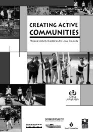 Physical Activity Guidelines for Local Councils - Be Active WA