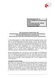 (SE) Vereinbarung über Arbeit - WORKER PARTICIPATION.eu