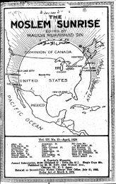 1924 - The Muslim Sunrise
