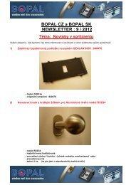 9 / 2012 - Novinky v sortimentu - Bopal.eu