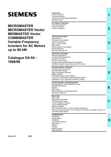 MicroMaster 6SE92 - ECT Sales & Service