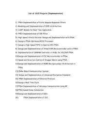 List of VLSI Projects - PG Embedded systems