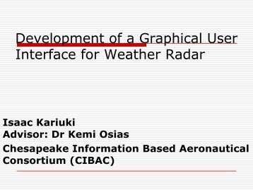 Development of a Graphical User Interface for Weather Radar