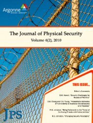 PDF - The Journal of Physical Security - Argonne National Laboratory