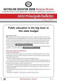 AEU Principals Bulletin May 2011 - Australian Education Union ...
