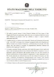 direttiva per la formazione del personale civile dell'esercito. anno 2010