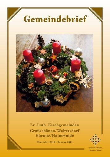 Gemeindebrief Januar 2013 - Kirche-grossschoenau.de