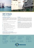 Page 1 Page 2 GAC in Russia Project Logistics Global network ... - Page 2