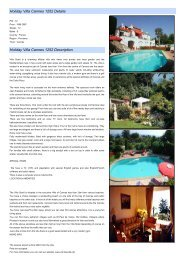 Holiday Villa Cannes 1252 Details Holiday Villa Cannes 1252 ...