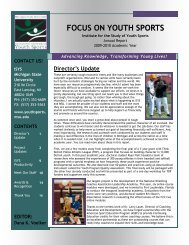focus on youth sportss - College of Education - Michigan State ...