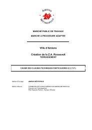 Titien Roosevelt - CCTP terrassement