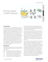 Tektronix: Technical Brief > Protocol Analysis in UMTS Networks