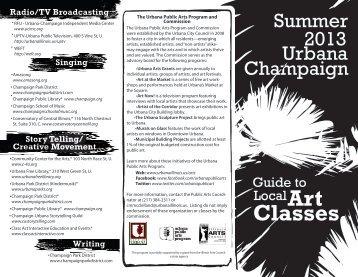 Classes - City of Urbana