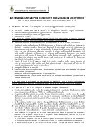 documentazione per richiesta permesso di costruire - Comune di ...