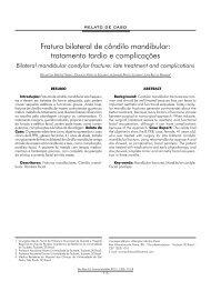 Fratura bilateral de côndilo mandibular: tratamento tardio ... - ABCCMF