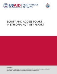 Equity and Access to ART in Ethiopia: Activity Report - Health Policy ...