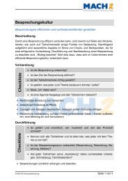 Besprechungskultur Checkliste Checkliste - MACH1 Weiterbildung