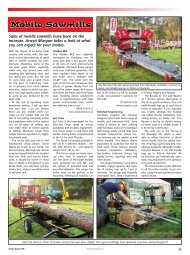 Mobile Sawmills - Forestry Journal