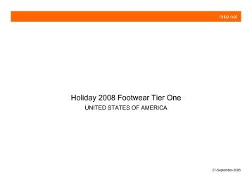 Holiday 2008 Footwear Tier One - x308.com