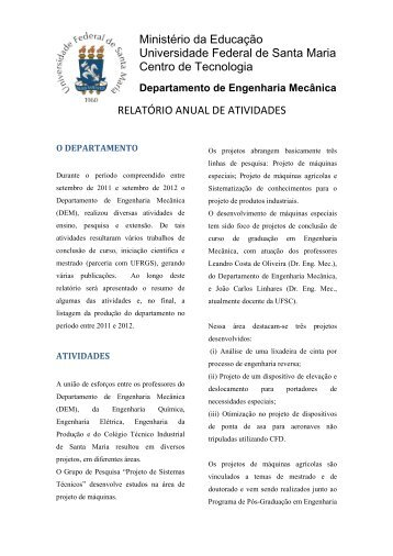 Annual Report AVL (2012) - UFSM