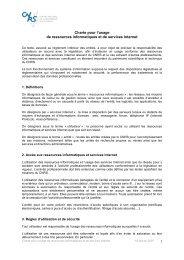 1 Charte pour l'usage de ressources informatiques et de ... - CC-IN2P3