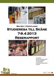 Studieresa till Skåne 7-9.4 2013 Reserapport - Bra mat i Västnyland