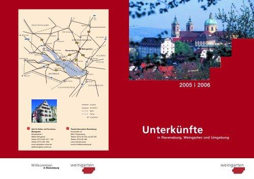 Unterkünfte in Ravensburg, Weingarten und ... - Stadt Weingarten