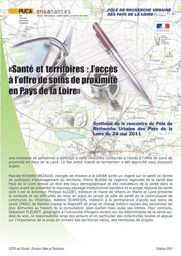 «Santé et territoires : l'accès à l'offre de soins de proximité ... - CoTITA