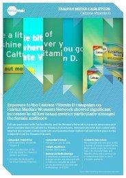 Caltrate Vitamin D Case Study - Fairfax Media Adcentre